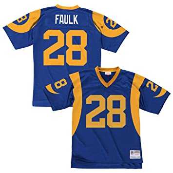 new arrival b7bc2 7d667 Marshall Faulk Los Angeles Rams Royal Blue Throwback Jersey