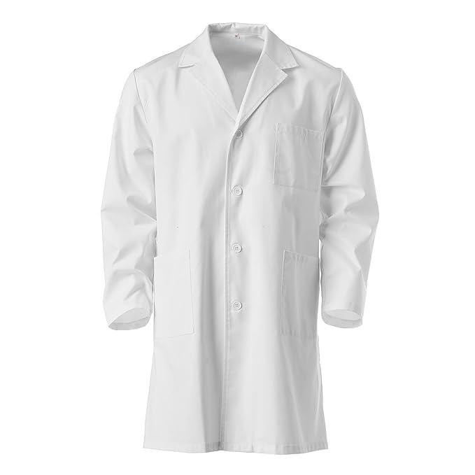 Guardapolvo blanco, talla 10 a 16 años, 100% algodón, para laboratorio escolar: Amazon.es: Ropa y accesorios