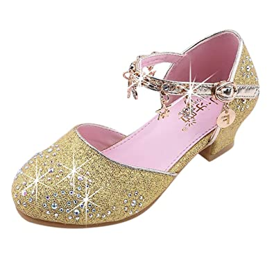 eaffedd60 子供靴 Plojuxi 女の子 ドレスシューズ ピアノ発表会靴 滑り止め フォーマル靴 キラキラ 星