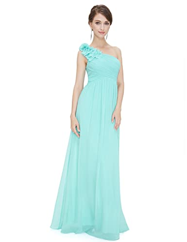 Ever Pretty Flower One Shoulder Long Bridesmaids Party Dress 08237