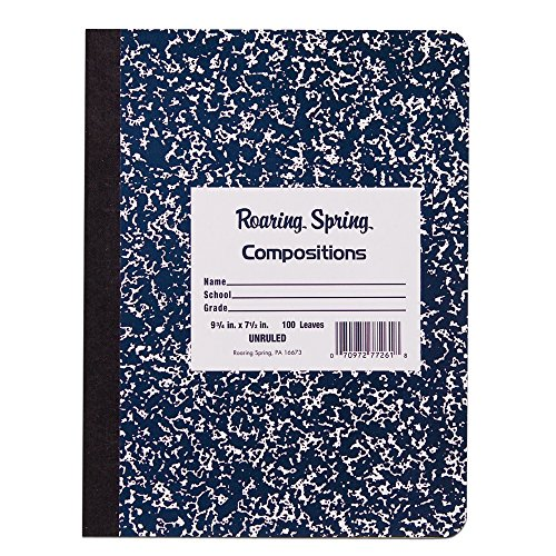 Roaring Spring Paper Products 4/Pack Composition Notebook (77262)