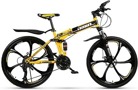 KXDLR Bicicleta De Montaña Plegable, 26 Pulgadas, Bicicleta De ...