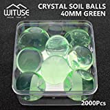 2000PCS WATER BALLS GROWING CRYSTAL SOIL AQUA BEADS 6.8MM GREEN TABLE DECOR
