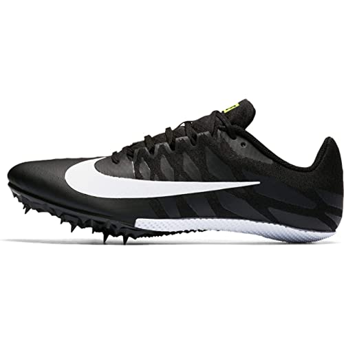 best service 6f398 1ba20 Nike Men s Zoom Rival S 9 Track and Field Shoes(Black White, 4