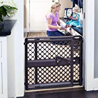 """Toddleroo by North States 42"""" Wide Supergate Ergo Baby Gate: Great for doorways or stairways. Includes Wall Cups for Extra Holding Power. Pressure or Hardware Mount. 26"""" - 42"""" Wide(26"""