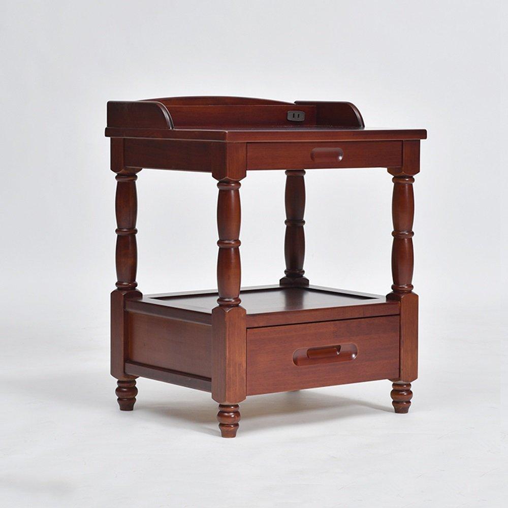 ナイトテーブル ソリッドウッドベッドサイドキャビネットベッドルーム収納キャビネットホワイトベッドサイドキャビネットスモールロッカー (色 : D) B07FBHFTPJ D D