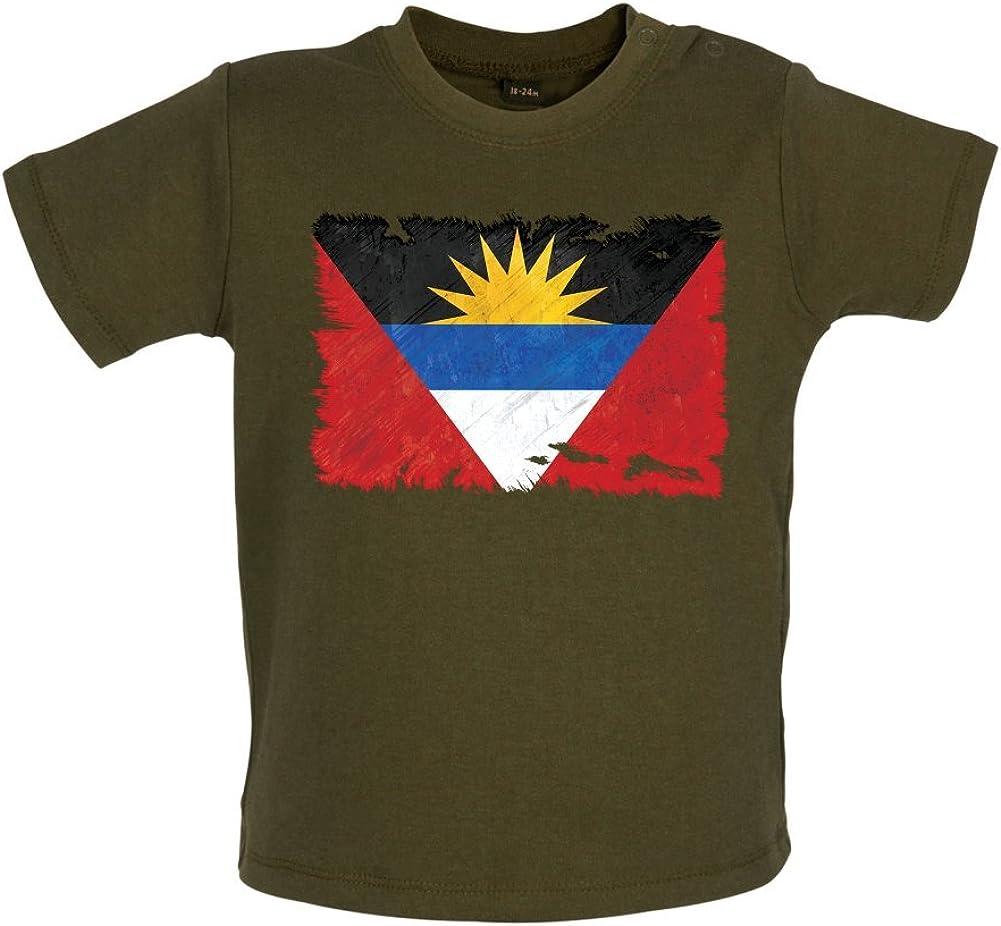 Antigua y Barbuda Bandera de Grunge Estilo – bebé/camiseta – Camuflaje – 18 – 24 M: Amazon.es: Ropa y accesorios