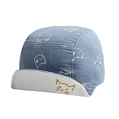 Sombrero para bebé gatito de dibujos animados sombrero de visera Gorras de Lonshell (1T-