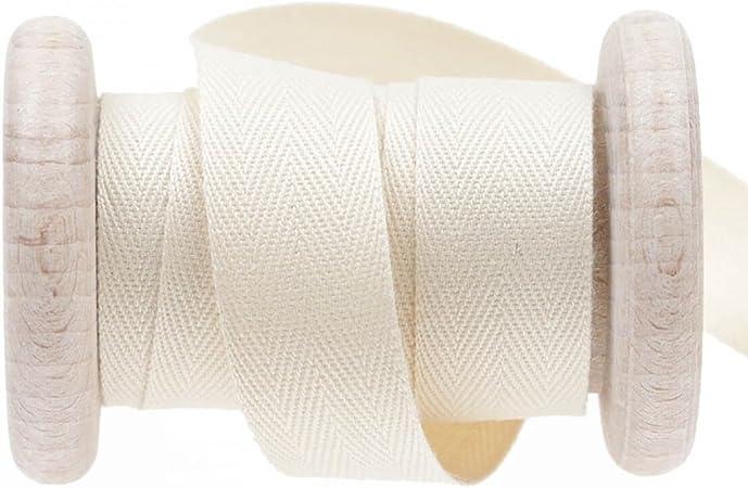 Cinta algodón sarga precio – Beige antiquewhite, algodón, beige, 20 mm: Amazon.es: Hogar