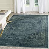 Safavieh Vintage Premium Collection VTG158-2220 Transitional Oriental Medallion Blue and Multi Distressed Silky Viscose Area Rug (5'3″ x 7'6″) Review