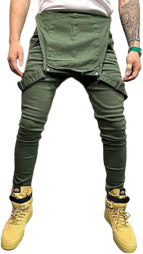 Salopette da Uomo in Denim con Pettorina Salopette e Jeans