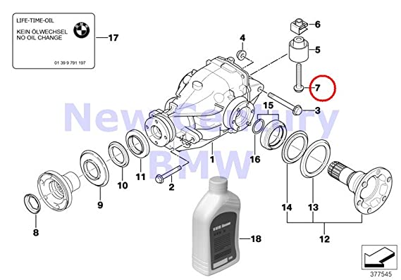 Amazon com: BMW Genuine Front Axle Rear-Axle-Drive Hex Screw
