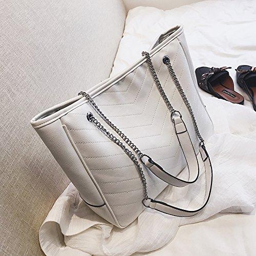 JUSTYOU-POPO Dames Sac Nouvelle Mode Sac à Main Rétro Simple Petit Sac Chaîne Sac épaule Messenger SacCadeau B