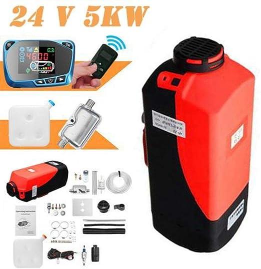 shewt Calentador de Coche, 12V / 24V 5KW Aire Diesel Calentador ...