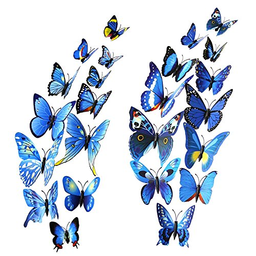 Mudder Pieces Butterfly Stickers Decoration
