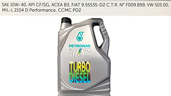Aceite lubricante para coche Selenia Turbo Diesel 10W40 5 litros