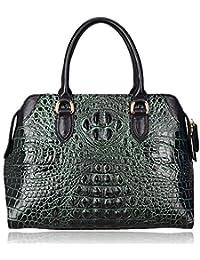 Pijushi Designer Genuine Leather Purses and Handbags for Women Crocodile Shoulder Bag