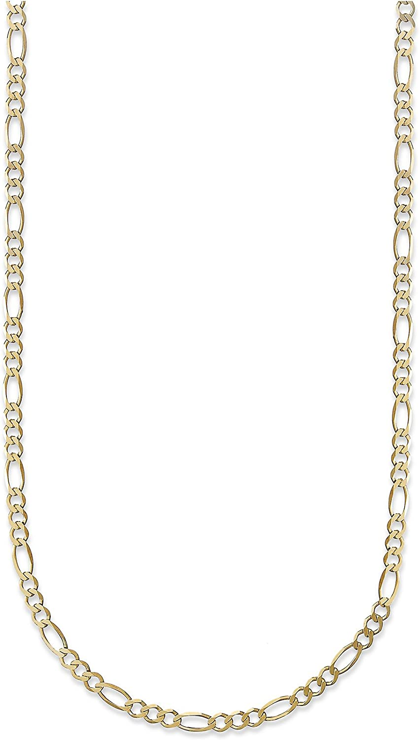 10K Yellow Gold 3.5mm Figaro 3+1 Link Chain Necklace - Multiple lengths available-20