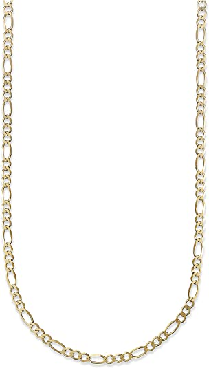 SOLID 10K YELLOW GOLD NECKLACE LINK CHAIN Made IN Italy
