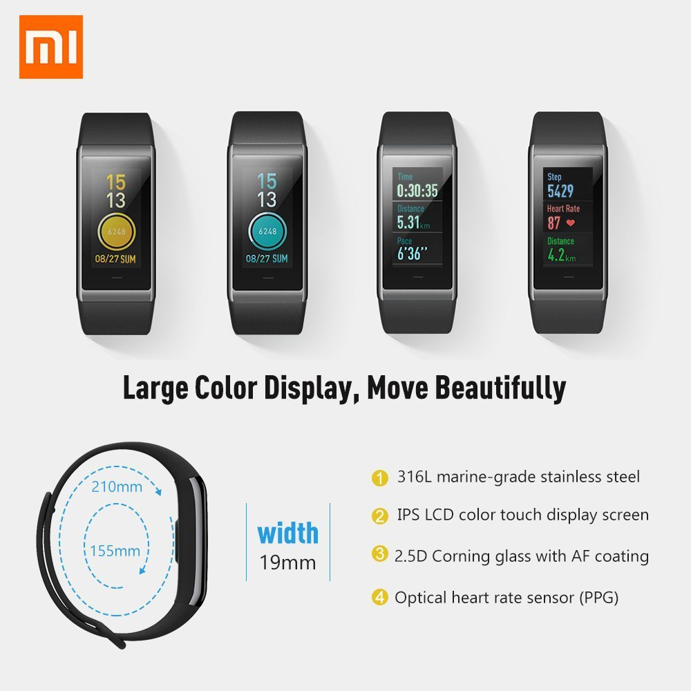 Fitness Tracker, Xiaomi Cor Activity Tracker with Heart Rate ...