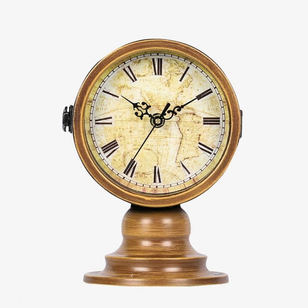 Xq Living Room Retro American Style Clock Modern Creative Ornaments Mute Clock by Xq