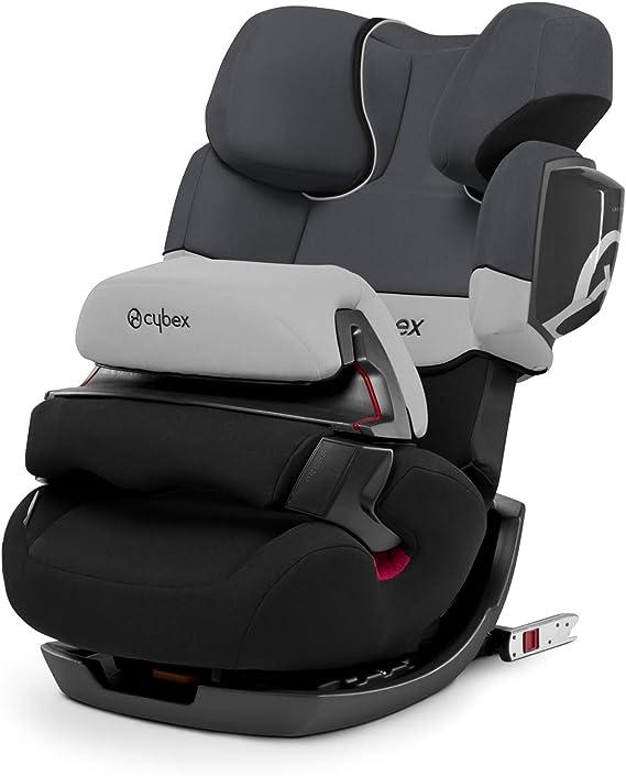 Cybex Silver Pallas 2-Fix, Seggiolino Auto 2 in 1 per Bambini, per Auto con e senza ISOFIX, Gruppo 1/2/3/9-36 kg, dai 9 Mesi ca. ai 12 Anni ca., Grigio (Gray Rabbit)