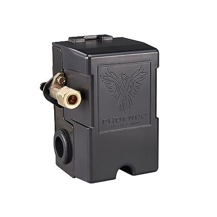 Phoenix 69MB9LY 135/175 PSI 1-Port Air Compressor Switch w/ Unloader Valve & Auto/Off (Furnas type) - - Amazon.com