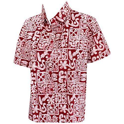 b044bb63e234c 80% de descuento La Leela 100% algodón Rojo pintura geométrica bolsillo de  la camisa