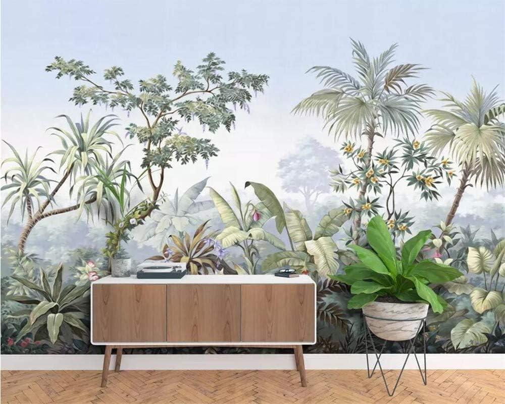 200 x 140 cm Tropical Rainforest Coconut Tree Poster Geant Mural Personnalis/é 3D pour Salon Chambre D/écoration Murale A-Gavvzq Papier Peint Panoramique jungle Soie