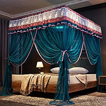 Mengersi 4 corners post canopy bed curtain for - Canopy bed ideas for adults ...