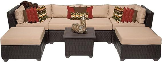 TK Classics 7 Piece Barbados-07A Outdoor Wicker Patio Furniture Set