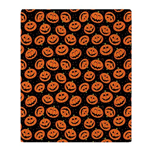 Halloween Fleece - CafePress - Halloween Pumpkin Flip Flops - Soft Fleece Throw Blanket, 50