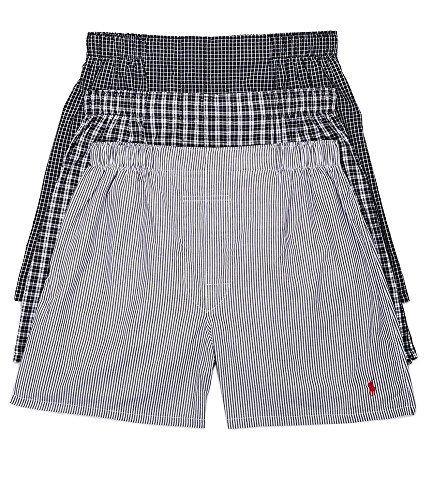 Polo Ralph Lauren Classic Woven Boxers 3-Pack, XL, Bond Stripe