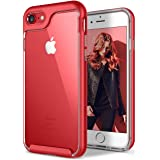 Newseego for iPhone 8 Plus Case /iPhone 7 Plus Case with Transparent Clear Slim Scratch Resistant Cover Drop Protection for Apple iPhone 7 Plus (2016) / iPhone 8 Plus (2017)-Red