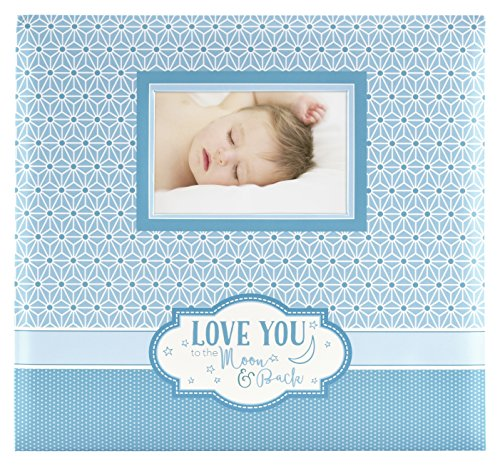 MCS MBI 13.5x12.5 Inch Baby Theme 'Love You to the Moon and Back' Scrapbook Album with 12x12 Inch Pages with Photo Opening (860127) by MCS