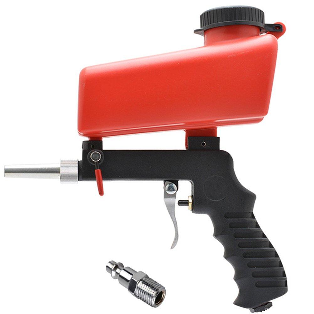 Jewboer Portable Air Sand Blaster Speed Blasting Nozzle Gun Tube Rust Remove