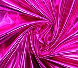 (US) Spandex Fabric Metallic HOT PINK / 60