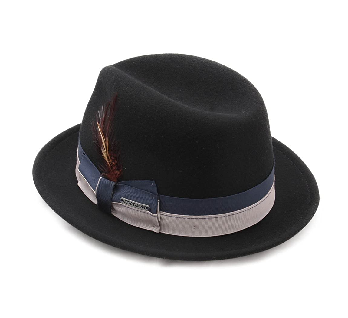 Stetson Manhattan VitaFelt Wool Felt Trilby Hat Packable Water Repellent