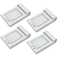 Luces Solares Exterior【Innovadora Versión 4 Piezas】30 LED 800lm