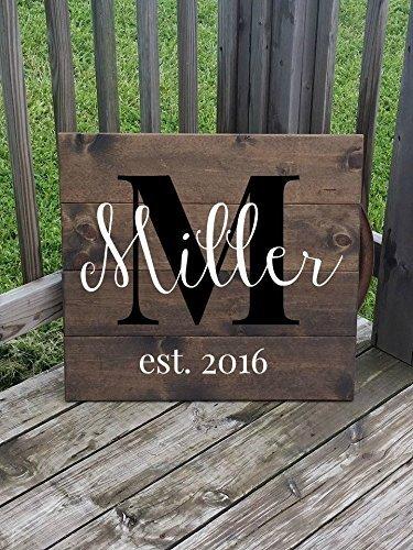 Amazon Large Last Name Sign Family Name Plaque Wedding Gift