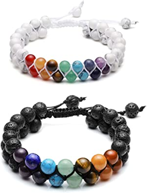 Amazon.com: Top Plaza - Pulsera de chakras con 7 chakras ...