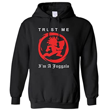 trust me i m a juggalo icp hoodie unisex shirt large black at