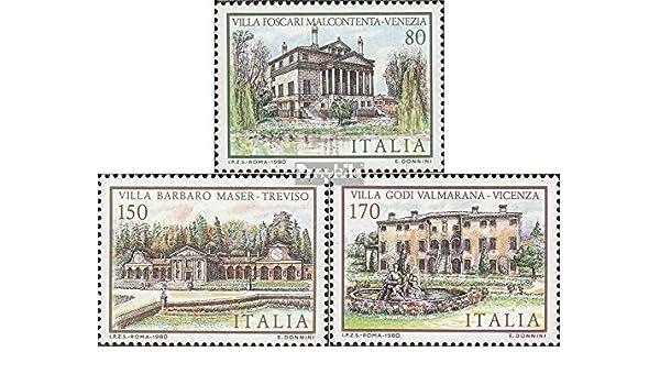 Completa.edici/ón. 1980 Villas Prophila Collection Italia 1733-1735 Sellos para los coleccionistas