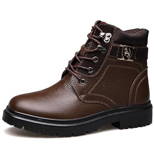 Chaussures Hommes Cuir BottesBottines Chaudes Fourrées 7Ygvfby6