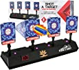 Electronic Shooting Target for Nerf Guns - Auto Reset Digital Scoring Shooting Practice 4 Targets, Ideal Gifts Toys for 5 -12 Years Old Kids, Teens, Boys & Girls (Only Target)