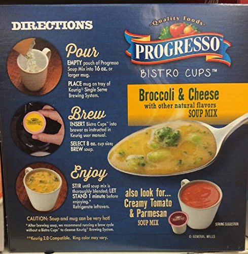 Progresso Bistro Cups, Broccoli and Cheese, Keurig K-cups, 5.2 oz