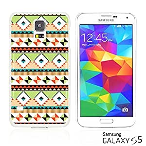 OnlineBestDigital - National Pattern Hardback Case for Samsung Galaxy S5 - Green Geometrical Pattern