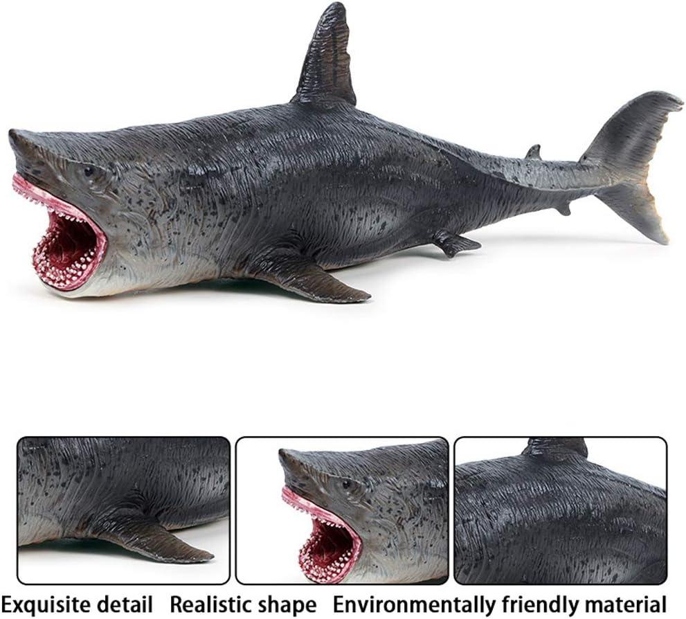 FLORMOON Spielzeuge Gro/ßer wei/ßer Hai Wal-Figur Realistisch Handgemalt Hai-Figur Tiere Actionfiguren Dekorative Sammlung Geschenk f/ür Kinder