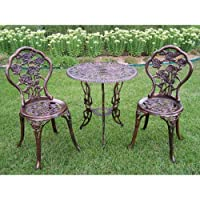 Oakland Living Rose Patio Bistro Set from Oakland Living Corp
