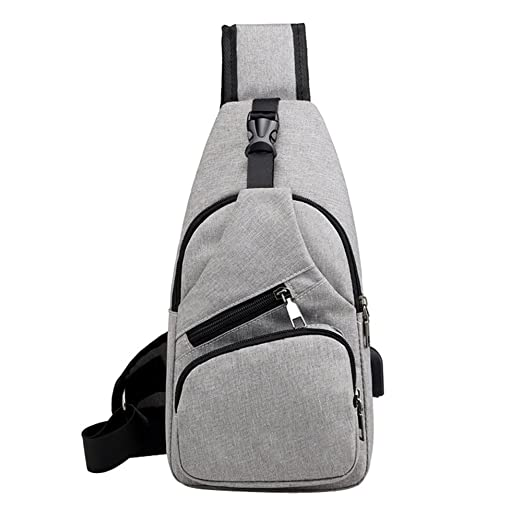Amazon.com : ❤ Sunbona Waist Packs for Travel Unisex Fashion Multifunction Crossbody Bag Outdoor Casual Chest Bag with USB (Gray) : Beauty